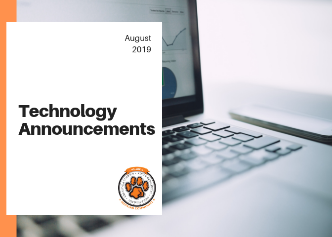August 2019 - Technology Announcements