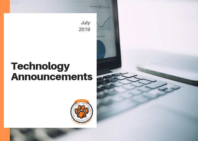 July 2019 Technology Announcements