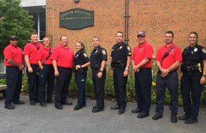 Thank You Maynard Fire Fighters & Police Officers!