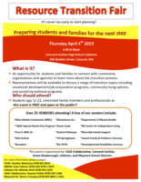 RESOURCE TRANSITION FAIR- Concor-Carlislie - April 4th