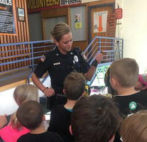 Officer Builds Rapport with Students