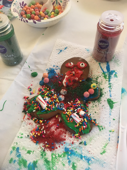 Gingerbread Man Decorating in Gr 2